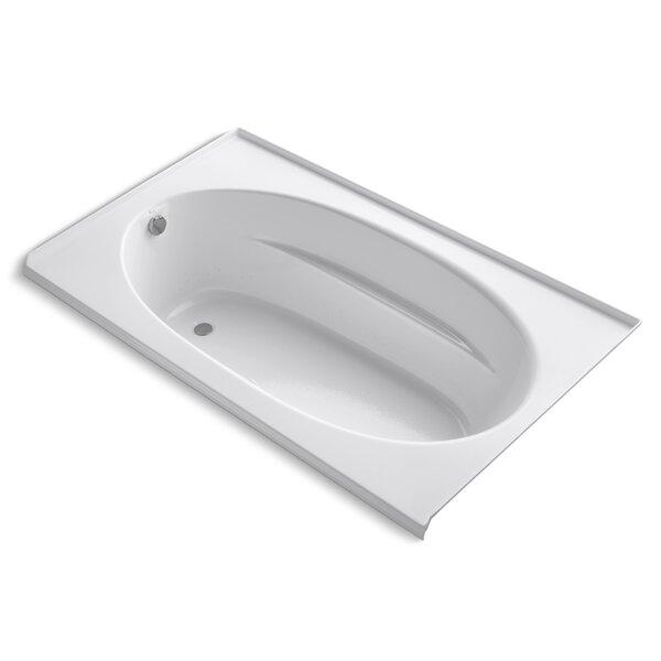 Windward Alcove Bubblemassage 72 x 42 Soaking Bathtub by Kohler