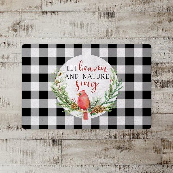 Morgan Heaven and Nature Cardinal Kitchen Mat
