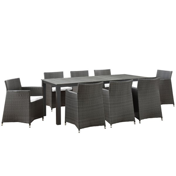Junction 9 Piece Outdoor Patio Dining Set by Modway