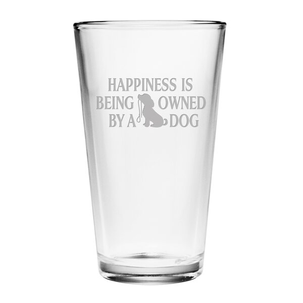 Owned by a Dog Pint Glass (Set of 4) by Susquehanna Glass