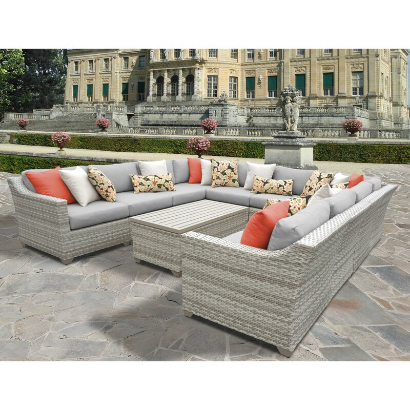 Ansonia 11 Piece Sectional Set with Cushions
