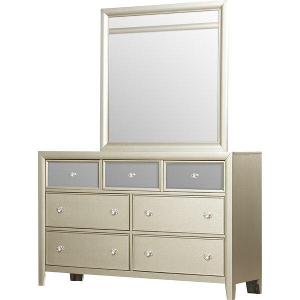 Gottfried 7 Drawer Dresser with Mirror by Willa Arlo Interiors