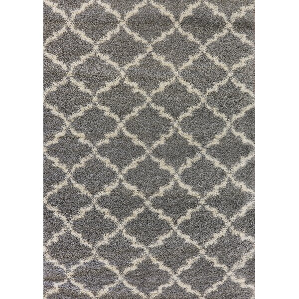 Rieder Gray/Cream Area Rug by Charlton Home
