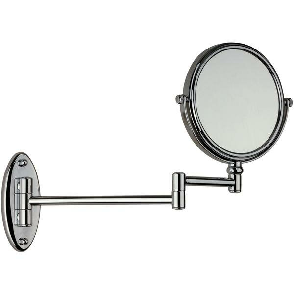 Houtz Double-Sided Adjustable Makeup/Shaving Mirror by Charlton Home