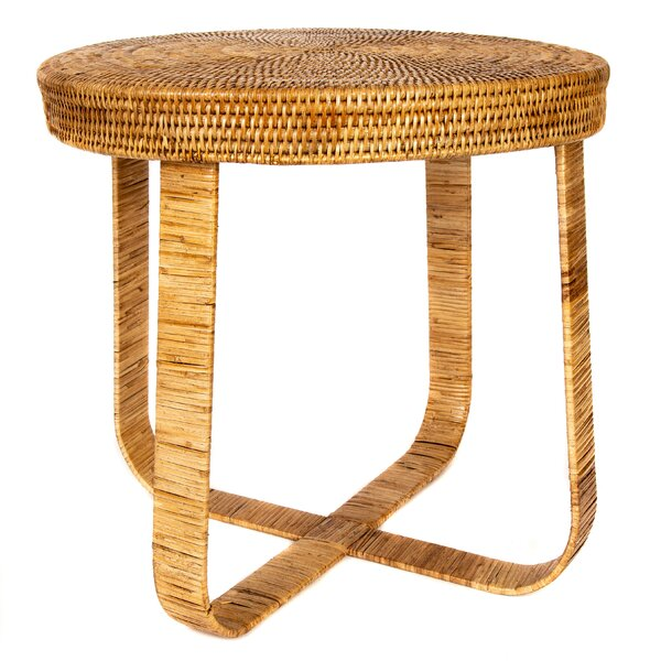 Davis Rattan End Table by Bay Isle Home