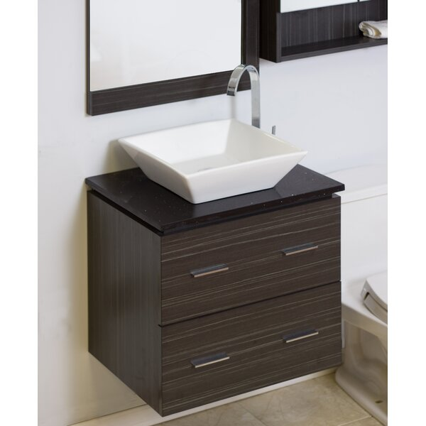 24 Single Modern Wall Mount Bathroom Vanity Set