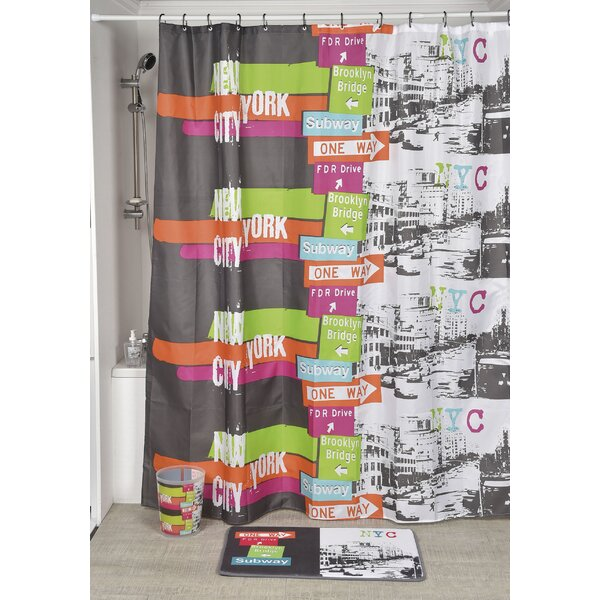 Urban NYC Printed Shower Curtain by Evideco