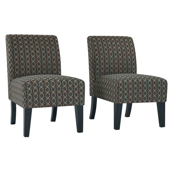 Maisonet Upholstered Slipper Chair (Set of 2) by Ebern Designs
