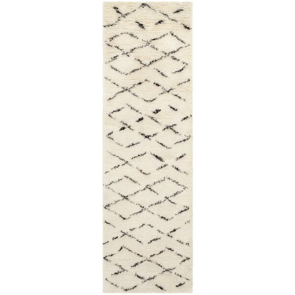 Bermondsey Ivory Shag Area Rug by Langley Street