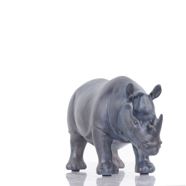 Gandara Rhinoceros Figurine by Bloomsbury Market
