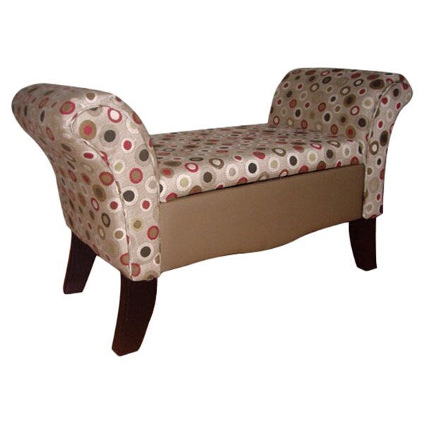 Upholstered Storage Settee Bench by ORE Furniture