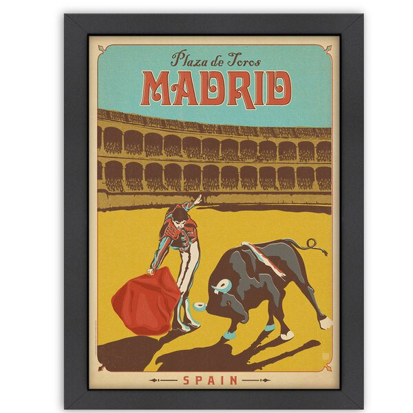 Madrid Framed Vintage Advertisement by East Urban Home