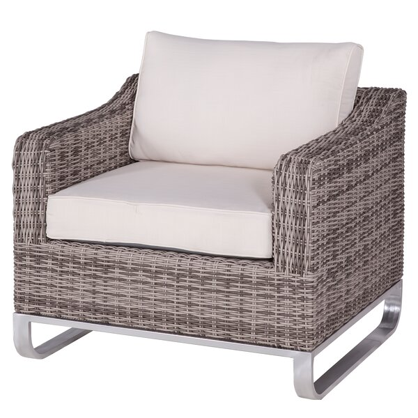 Hollaway Patio Chair with Cushions by Highland Dunes