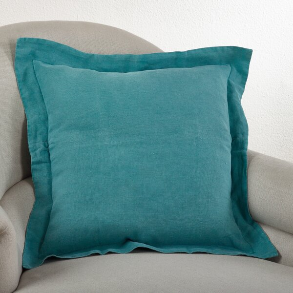 Tabitha Linen Throw Pillow by Saro