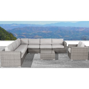 Vardin 9 Piece Sectional Set with Cushions by Rosecliff Heights
