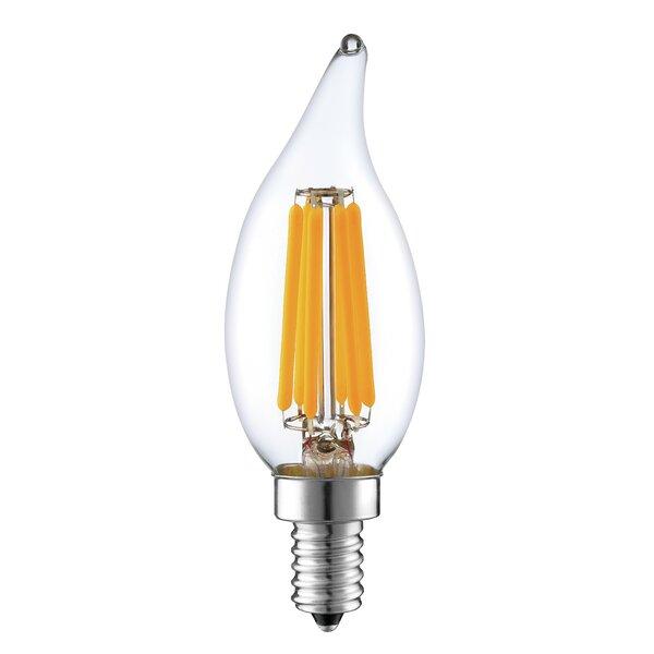 60W Equivalent E12 LED Candle Edison Light Bulb by String Light Company