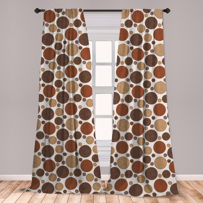 East Urban Home Polka Dots Room Darkening Rod Pocket Curtain Panels Wayfair