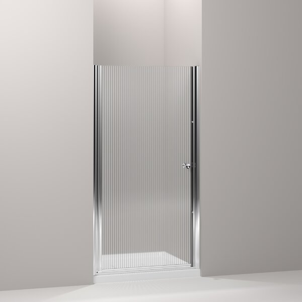 Fluence 32.75 x 65.5 Pivot Shower Door with CleanCoat® Technology by Kohler