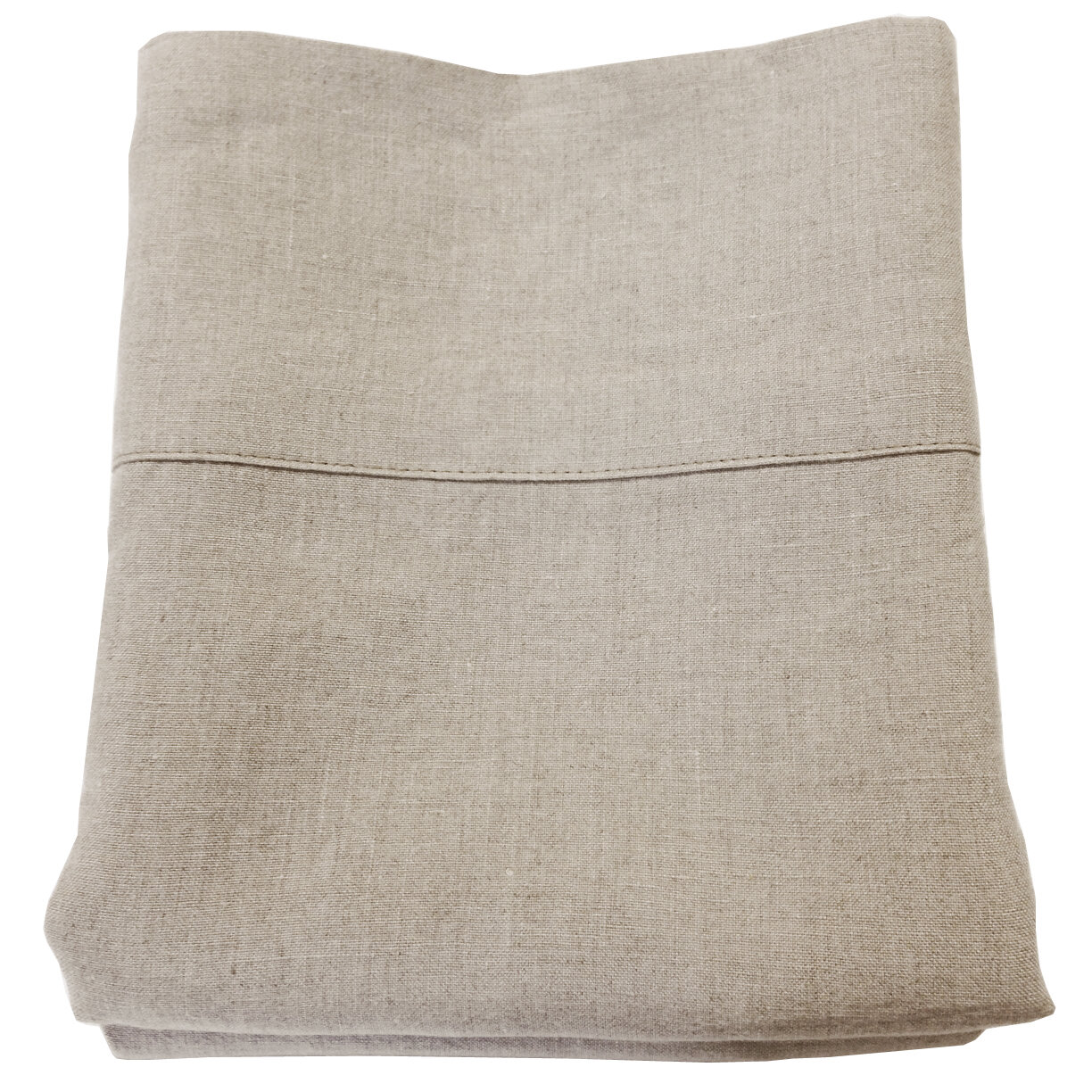Tri Sew Pillowcases King Size Set of 2 Last One Linen Look Tans
