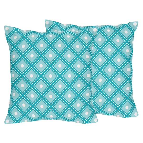 Mod Elephant Cotton Throw Pillow (Set of 2) by Sweet Jojo Designs