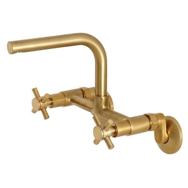 Concord Adjustable Wall Mount Bridge Faucet by Kingston Brass