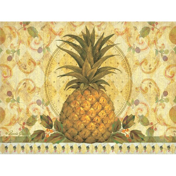 Golden Pineapple Placemat (Set of 4) by Pimpernel