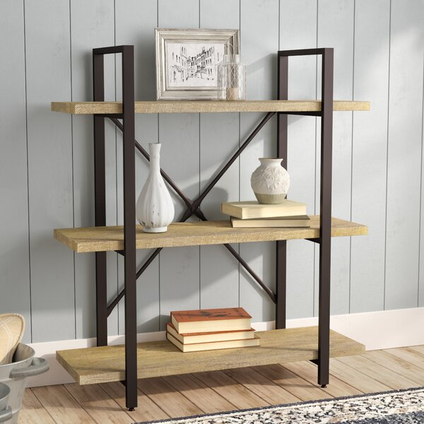 Carmine Three Level Etagere Bookcase by Laurel Fou