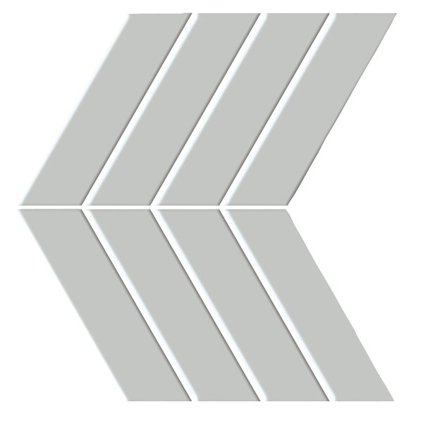 Shape 4.5 x 6.5 Porcelain Mosaic Tile in Gray by Emser Tile