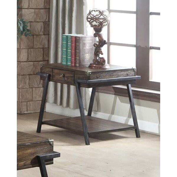 Burks End Table by Williston Forge