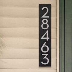 HN1033 Solid Vertical Address Plaque Large House Number Sign