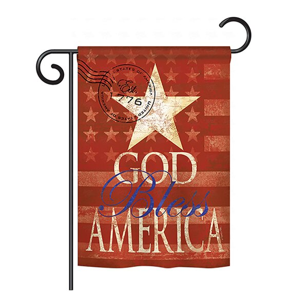 God Bless America 2-Sided Vertical Flag by Breeze Decor