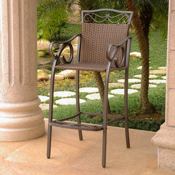 Meetinghouse 32 Patio Bar Stool (Set of 2) by Three Posts