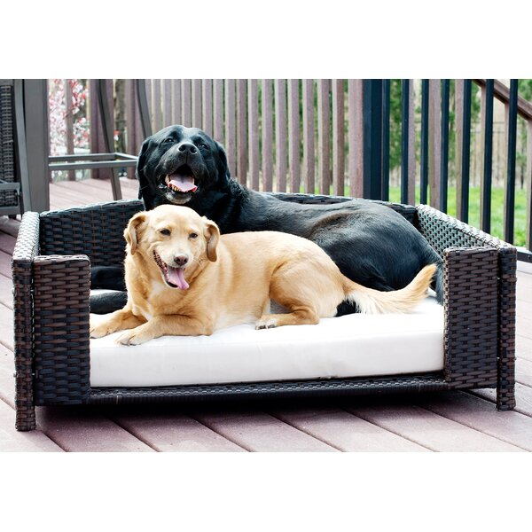 Cristobal Rattan Rectangular Dog Sofa by Archie & Oscar