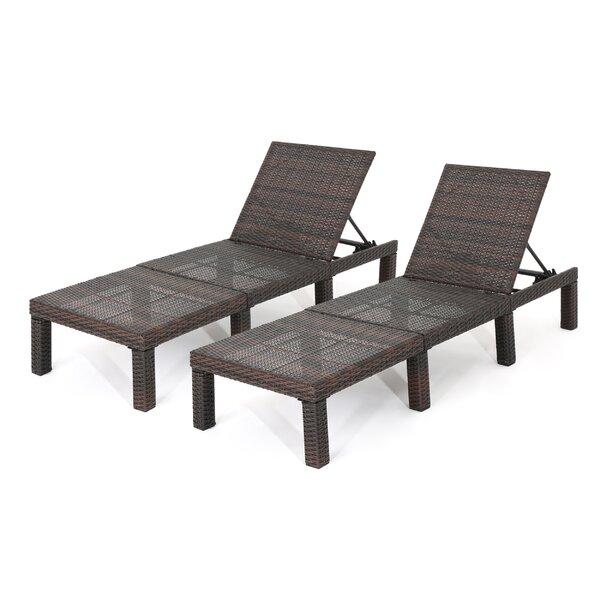 Letourneau Reclining Chaise Lounge (Set of 2) by Ebern Designs Ebern Designs