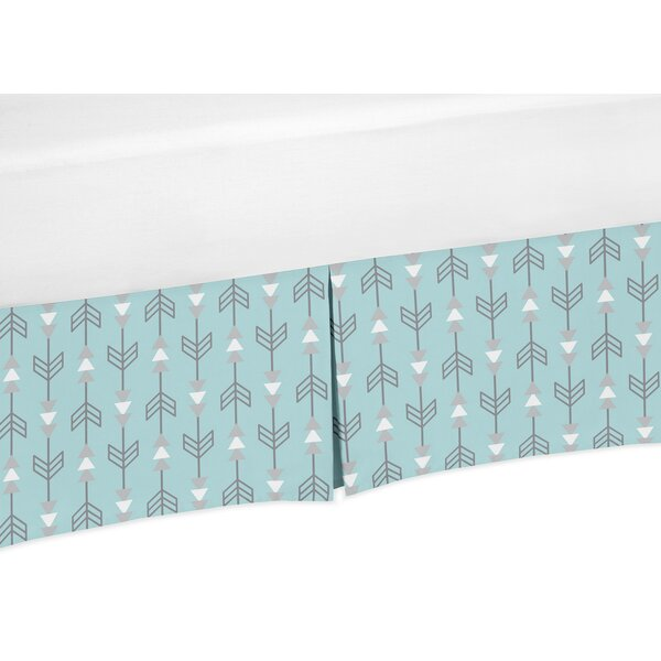 Earth and Sky Arrow Print Crib Skirt by Sweet Jojo Designs