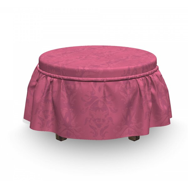 Review Baroque Flower Ottoman Slipcover (Set Of 2)