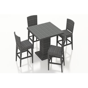 Holley 5 Piece Bar Height Dining Set By Rosecliff Heights