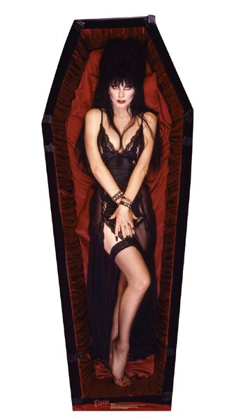 Elvira Coffin Cardboard Stand-Up by Advanced Graphics