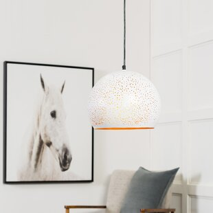 Kilpatrick Modern 1-Light Dome Pendant By Bungalow Rose