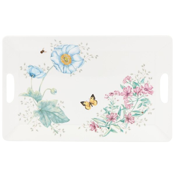 Butterfly Meadow Melamine Large Serving Tray by Lenox