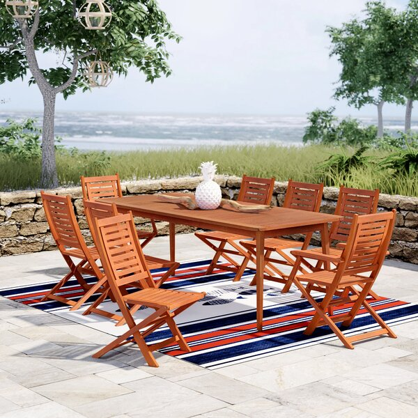 Elsmere 9 Piece Dining Set by Beachcrest Home