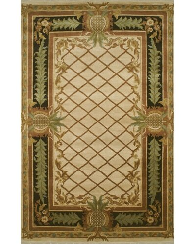 Palm Beach Beige Pineapple Aubusson Area Rug by American Home Rug Co.