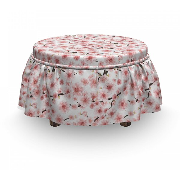 Sakura 3D Ottoman Slipcover (Set Of 2) By East Urban Home
