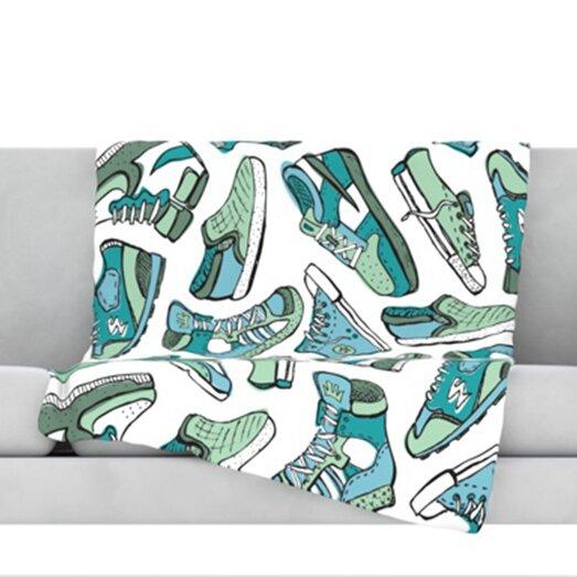 Sneaker Lover III Throw Blanket by KESS InHouse