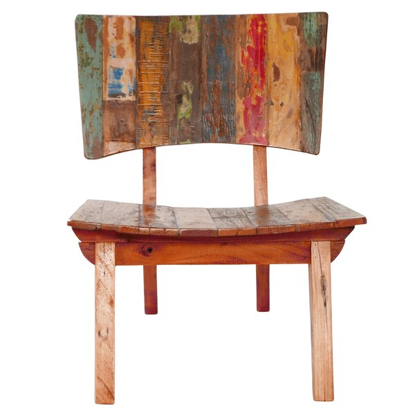 Oversized Reclaimed Fishing Boat Wood Guest Chair by Joseph Allen
