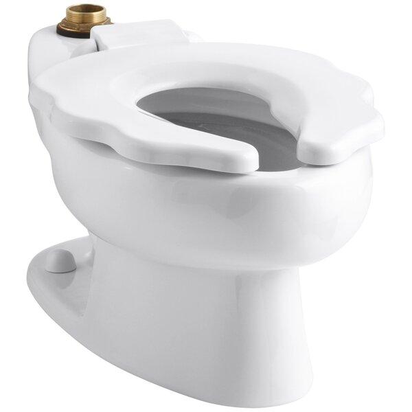 Primary 1.6 GPF Flushometer Valve 10-3/4 Elongated Toilet Bowl with Seat by Kohler