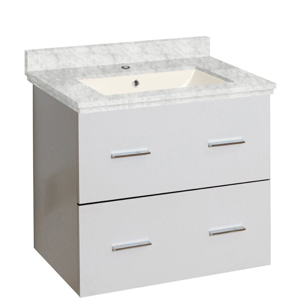 Phoebe Drilling Wall Mount 24 Rectangle Single Bathroom Vanity Set by Orren Ellis