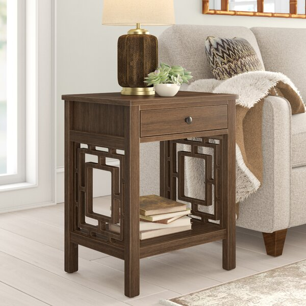Montgomery End Table With Storage By World Menagerie