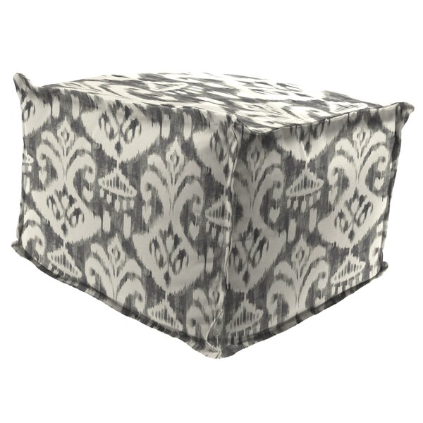 Morello Flange Edge Pouf Ottoman with Cushion by Ebern Designs