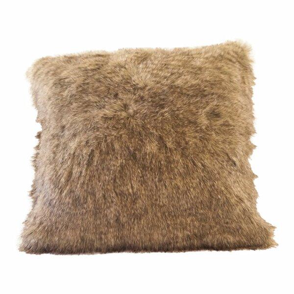 Raccoon Tail Faux Fur Pillow Cover by Posh Pelts
